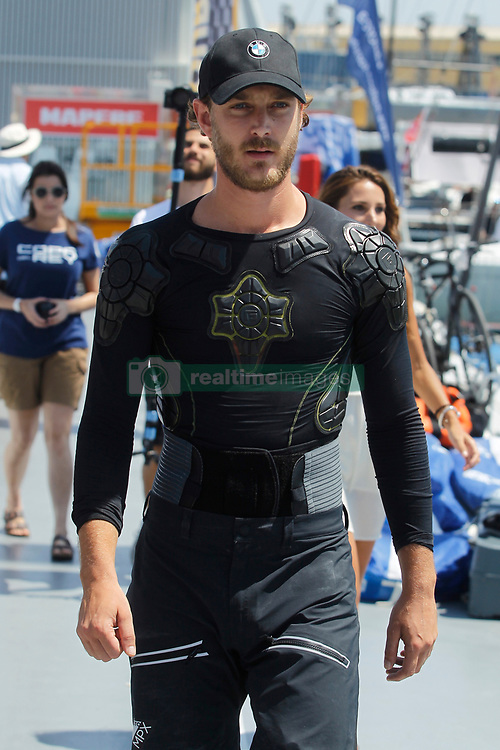 Pierre Casiraghi arrives at the the 36th Copa del Rey Mapfre Sailing Cup, training day on July 30, 2017 in Palma de Mallorca, Spain. Photo by Archie Andrews/ABACAPRESS.COM