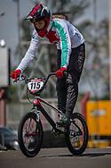 2018 UCI BMX Supercross<br /> Round 7 Santiago Del Estero (Argentina)<br /> Elite Women<br /> Practice<br /> #115 (CLAESSENS Zoe) SUI