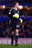 Thomasz Kuszczak , the goalkeeper of Birmingham city in action .EFL Skybet championship match, Birmingham city v Cardiff city at St.Andrew's stadium in Birmingham, the Midlands on Friday 13th October 2017.<br /> pic by Bradley Collyer, Andrew Orchard sports photography.