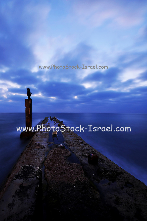 The entrance to the Jaffa harbour at dawn