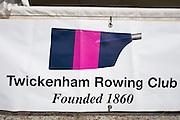 Henley on Thames. United Kingdom.  Remenham Club, founder members blade/oar colours. Monday,  27/06/2016,   16:59:06   2016 Henley Royal Regatta, Henley Reach.   [Mandatory Credit Peter Spurrier/ Intersport Images]