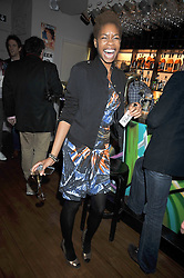 TOLULA ADEYEMI at a party to celebrate the opening of Barts, Sloane Ave, London on 26th February 2009.