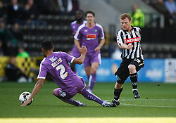 Kelvin Mellor of Plymouth Argyle (L) and Adam Campbell of Notts County in action - Mandatory byline: Jack Phillips / JMP - 07966386802 - 11/10/2015 - FOOTBALL - Meadow Lane - Nottingham, Nottinghamshire - Notts County v Plymouth Argyle - Sky Bet Championship