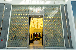 Alaia boutique at Dubai Mall Fashion Avenue , Downtown Dubai, United Arab Emirates