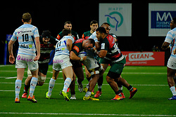 December 9, 2018 - Nanterre, Hauts de Seine, France - Leicester Flanker SIONE KALAMAFONI in action during the rugby Champions Cup Day 3 between Racing 92 and Leicester at U Arena Stadium in Nanterre - France..Racing 92 Won 36-26. (Credit Image: © Pierre Stevenin/ZUMA Wire)