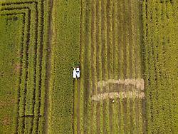 ZUNYI, Sept. 7, 2016 (Xinhua) -- A harvester works at rice fields in Manxi Village of Zunyi, southwest China's Guizhou Province, Sept. 7, 2016. Farmers are busy as autumn harvest season begins. (Xinhua/He Chunyu) (wyl) (Credit Image: © He Chunyu/Xinhua via ZUMA Wire)