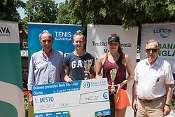 Miran Krasevec, Maja Makoric, Nika Kozar and Ivan Gorjup after finals of Drzavno prvenstvo v tenisu za clane in clanice, on June 27th, 2019 in Maribor, Slovenia. Photo by Milos Vujinovic / Sportida
