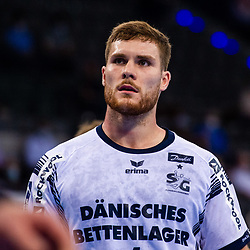 Johannes Golla (SG Flensburg-Handewitt #4) ; LIQUI MOLY HBL / 1. Handball-Bundesliga: TVB Stuttgart - SG Flensburg-Handewitt am 09.06.2021 in Stuttgart (PORSCHE Arena), Baden-Wuerttemberg, Deutschland<br /> <br /> Foto © PIX-Sportfotos *** Foto ist honorarpflichtig! *** Auf Anfrage in hoeherer Qualitaet/Aufloesung. Belegexemplar erbeten. Veroeffentlichung ausschliesslich fuer journalistisch-publizistische Zwecke. For editorial use only.