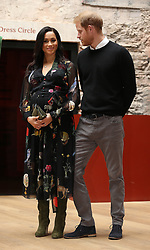 File photo dated 01/02/19 of The Duke and Duchess of Sussex during a visit to the Bristol Old Vic theatre. The Duchess of Sussex is counting down the days to the arrival of her first child.
