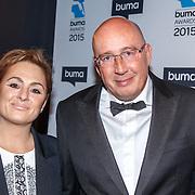 NLD/Hilversum/20150217 - Inloop Buma Awards 2015, Daniel Dekker en partner Carla Versloot