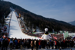 Spectators during Flying Hill Individual First Round at 2nd day of FIS Ski Flying World Championships Planica 2010, on March 19, 2010, Planica, Slovenia.  (Photo by Vid Ponikvar / Sportida)