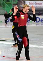 Skøyter 14 november  2004 , Essent ISU World Cup , speed skating , Vikingskipet , Hamar   <br /> <br /> Kristina Groves ,CAN , CAN<br /> <br /> Foto: Dagfinn Limoseth  -  Digitalsport