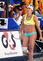 Volleyball Sandvolleyball Beachvolleyball<br />Swatch FIVB World Tour Conoco Phillips Grand Slam<br />Stavanger 270608<br />Foto: Sigbjørn Andreas Hofsmo, Digitalsport<br /><br />Nila Haakedal Hakedal Håkedal - Ingrid Torlen Tørlen - Shelda Bede