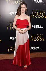 Premiere Of Amazon Studios' 'The Last Tycoon' - Arrivals. 28 Jul 2017 Pictured: Lily Collins. Photo credit: MEGA TheMegaAgency.com +1 888 505 6342