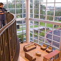 Maui Medical Center, 1st floor railing right side with nurse/model