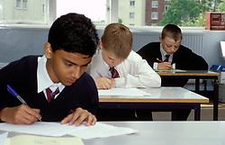 Secondary schoolchildren sitting GCSE exams, UK