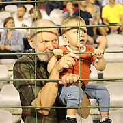 BRUSSELS, BELGIUM:  September 3:   Spectators young and old watching the Wanda Diamond League 2021 Athletics competition at King Baudouin Stadium on September 3, 2021 in  Brussels, Belgium. (Photo by Tim Clayton/Corbis via Getty Images)