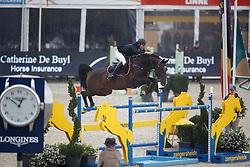 Polleunis Sam, (BEL), Okidoki van't Gelutt Z<br /> Zangersheide Sires of the World<br /> World Championship Young Jumping Horses - Lanaken 2015<br /> © Hippo Foto - Dirk Caremans<br /> 19/09/15