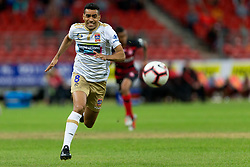 November 23, 2018 - Sydney, NSW, U.S. - SYDNEY - NOVEMBER 23: Newcastle Jets forward Jair (8) chases the ball at the Hyundai A-League Round 5 soccer match between Western Sydney Wanderers FC and Newcastle Jets on November 23, 2018, at Spotless Stadium in Sydney, NSW. (Photo by Speed Media/Icon Sportswire) (Credit Image: © Speed Media/Icon SMI via ZUMA Press)