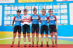 WNT Rotor Pro Cycling sign on at Tour of Chongming Island 2019 - Stage 1, a 102.7 km road race on Chongming Island, China on May 9, 2019. Photo by Sean Robinson/velofocus.com