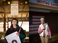 CLIENT: LIBERATION<br /> <br /> Jack Wilbur, 15, of Ashburn, Virginia, holds a Marlin Glenfield .22 semi-automatic long rifle, a family heirloom that he received as a Christmas gift, at the Clark Brothers Guns shooting range in Warrenton, Virginia.<br /> <br /> Elizabeth Cain, 80, of Fredericksburg, Virginia, poses with her Ruger Redhawk revolver at the Clark Brothers Guns shooting range in Warrenton, Virginia. Cain began shooting at age 19 and registered for her concealed weapons permit with her daughter Diane five years ago. She and Diane target practice at the range every weekend before going out to brunch.