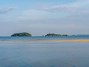 Image of Song Saa Resort, just off of Koh Rong Island. Photo taken from Preak Svay, Koh Rong Island, Cambodia.