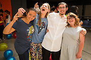 Special Education students from various districts in Santa Clara County attended the Super Hero Dance at Milpitas High School in Milpitas, California, on April 18, 2014. (Stan Olszewski/SOSKIphoto)