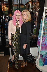 Left to right, sisters MARY BALLANTYNE and ARABELLA BALLANTYNE at the Rigby & Peller 'The Art of Lingerie' party held at their store at 2 Hans Road, London on 3rd June 2015.