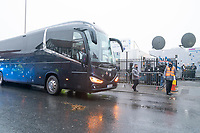 Football - 2020 / 2021 Emirates FA Cup - Round Three - Marine v Tottenham Hotspur - Rossett Park<br /> <br /> Spurs coaches arrive outside Rosset Park.<br /> <br /> COLORSPORT/TERRY DONNELLY