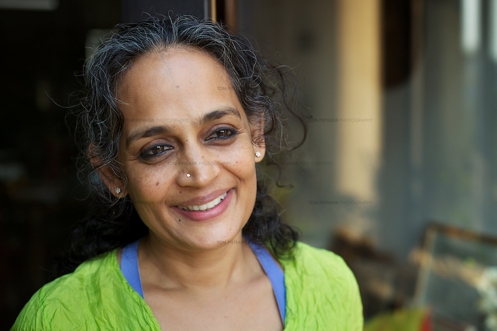 Author Arundhati Roy at her home in New Delhi...Photo: Tom Pietrasik.New Delhi.January 26th 2011
