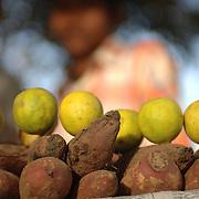 A sweet potato stand in GK-1, M Block marekt in New Delhi