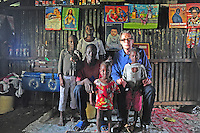 BILL WITH KENNEDY, WIFE SARAH, AND CHILDREN,(EXTREAM POVERTY, HIV AND MAL-NUTRITION)