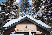 Tamarack Lodge cross-country ski hut, Inyo National Forest, California USA