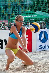 Sara Sakovic at Zavarovalnica Triglav Beach Volley Open as tournament for Slovenian national championship on July 29, 2011, in Kranj, Slovenia. (Photo by Matic Klansek Velej / Sportida)
