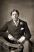 Oscar WiIde (1854-1900) Irish writer, wit and playwright. Photograph published c1890