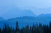 Aerial view of Mackenzie Mountains<br /> Nahanni National Park<br /> Northwest Territories<br /> Canada