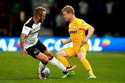 Daryl Horgan of Preston North End goes past Johnny Russell of Derby County - Mandatory by-line: Robbie Stephenson/JMP - 15/08/2017 - FOOTBALL - Pride Park Stadium - Derby, England - Derby County v Preston North End - Sky Bet Championship
