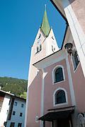 Church steeple in Zell am Ziller, Tyrol, Austria