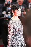 Audrey Tautou at the the Grace of Monaco gala screening and opening ceremony red carpet at the 67th Cannes Film Festival France. Wednesday 14th May 2014 in Cannes Film Festival, France.