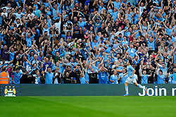Manchester City's Samir Nasri celebrates his goal. - Photo mandatory by-line: Dougie Allward/JMP - Tel: Mobile: 07966 386802 22/09/2013 - SPORT - FOOTBALL - City of Manchester Stadium - Manchester - Manchester City V Manchester United - Barclays Premier League