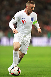England's Wayne Rooney during the International Friendly at Wembley Stadium, London. PRESS ASSOCIATION Photo. Picture date: Thursday November 15, 2018. See PA story SOCCER England. Photo credit should read: Mike Egerton/PA Wire. RESTRICTIONS: Use subject to FA restrictions. Editorial use only. Commercial use only with prior written consent of the FA. No editing except cropping.