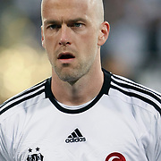Besiktas's Fabian Ernst during their Turkish Superleague SuperFinal Derby match Besiktas between Fenerbahce at the Inonu Stadium at Dolmabahce in Istanbul Turkey on Thursday, 03 May 2012. Photo by TURKPIX