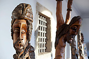 Wood carvings on display in Cachoeira, Bahia, Brazil showing the local handicrafts. Sculptures of characters with an afro Brazilian style