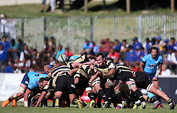 Marnus Hugo of Boland sends the ball wide during the Currie Cup premier division match between the Boland Cavaliers and The Blue Bulls held at Boland Stadium, Wellington, South Africa on the 23rd September 2016<br /> <br /> Photo by:   Shaun Roy/ Real Time Images
