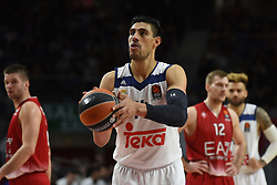 January 27, 2017 - Madrid, Madrid, Spain - Gustavo Ayón, #14 of Real Madrid pictured during the Euroleague basketball match between Real Madrid and EA7 Emporio Armani Milano. (Credit Image: © Jorge Sanz GarcíA/Pacific Press via ZUMA Wire)
