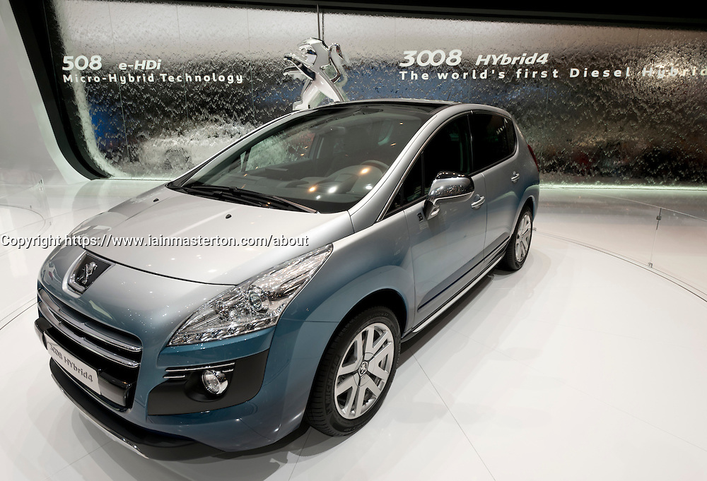 Peugeot 3008 concept  world's first Hybrid diesel concept car at the Geneva Motor Show 2011 Switzerland