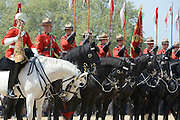 © Licensed to London News Pictures. 23/05/2012. London, UK The Guard assembles on Horse Guards. Canadian Mounties Guard Her Majesty the Queen at Horse Guards Parade on Whitehall in Westminster. They will guard on all day and will be the first non-British force to guard the Queen. Photo credit : Stephen Simpson/LNP