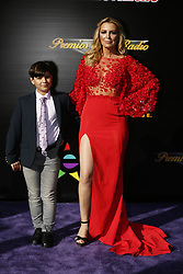 HOLLYWOOD, CA - NOVEMBER 09: Sandra Vidal and her son Pablo Montero attend the 18th edition of 'Los Premios de la Radio' held at the Dolby Theater on November 09, 2017 in Los Angeles, California. Byline, credit, TV usage, web usage or linkback must read SILVEXPHOTO.COM. Failure to byline correctly will incur double the agreed fee. Tel: +1 714 504 6870.