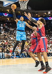 July 6, 2018 - Oakland, CA, U.S. - OAKLAND, CA - JULY 06: Corey Maggette (50) captain of Power goes for a lay up during game 3 in week three of the BIG3 3-on-3 basketball league on Friday, July 6, 2018 at the Oracle Arena in Oakland, CA (Photo by Douglas Stringer/Icon Sportswire) (Credit Image: © Douglas Stringer/Icon SMI via ZUMA Press)