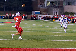 NORMAL, IL - September 04: Austin Nagel wide open and alone near the 10 yard line during a college football game between the Bulldogs of Butler University and the ISU (Illinois State University) Redbirds on September 04 2021 at Hancock Stadium in Normal, IL. (Photo by Alan Look)